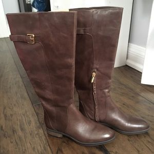 NEW Sam Edelman brown leather riding boot